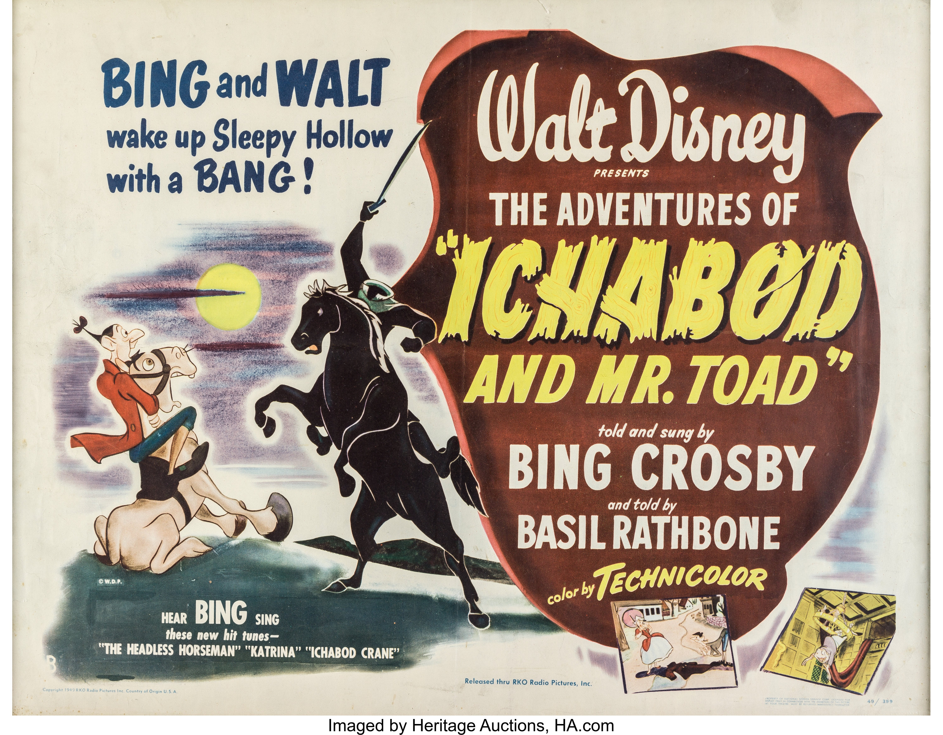 The Adventurers of Ichabod and Mr. Toad Theatrical Poster (Walt | Lot  #97245 | Heritage Auctions