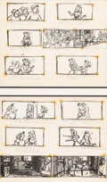 Animation Art:Production Drawing, Sleeping Beauty Briar Rose and Good Fairies Storyboard Art(Walt Disney, 1959)....