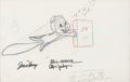 Animation Art:Production Drawing, Rocky and His Friends/The Bullwinkle Show Rocky SponsorSegment Animation Drawing (Jay Ward, c. 1959-61)....