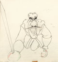 Animation Art:Production Drawing, Peter Pan Captain Hook Animation Drawing (Walt Disney, 1953)....
