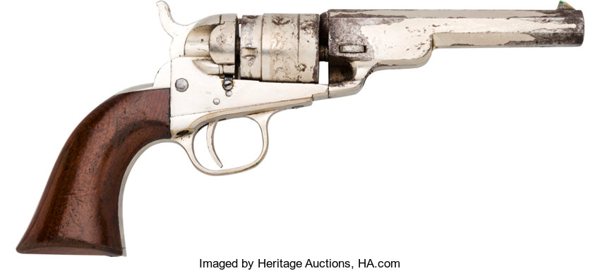 Colt Conversion Single Action Revolver with Leather Holster