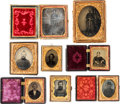 Photography:Tintypes, Lot of Six Civil War Union Soldier Images and Two Civil War EraCivilians.... (Total: 8 Items)