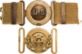 Militaria:Uniforms, Lot of Two U.S. Model 1910 Garrison Belt Buckles.... (Total: 2 Items)