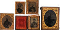 Photography:Tintypes, Lot of Five Civil War Images of Unidentified Union Soldiers....(Total: 4 Items)