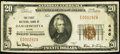 National Bank Notes:Maine, Damariscotta, ME - $20 1929 Ty. 1 The First NB Ch. # 446. ...