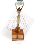 Memorabilia:Miscellaneous, It's a Mad Mad Mad Mad World TV Commercial Award and ScriptGroup (1964)....