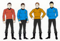 Animation Art:Color Model, Star Trek: The Animated Series Kirk, Spock, McCoy, andScotty Color Model Cel (Filmation, 1973/74).... (Total: 4 Items)