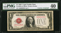 W.O. Woods Courtesy Autograph Fr. 1500 $1 1928 Legal Tender Note. PMG Extremely Fine 40