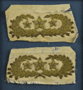 Military & Patriotic:Civil War, Confederate General's Collar Insignia of Thomas Lafayette Rosser....