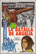 """Movie Posters:Foreign, The Battle of Algiers (Norma, 1968). Argentinean Poster (29"""" X 43""""). Foreign.. ..."""