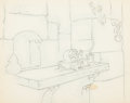 Animation Art:Concept Art, Snow White and the Seven Dwarfs Background Rough ConceptDrawing (Walt Disney, 1937)....