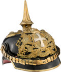 Militaria:Helmets, Fantastic Bavarian Reserve Officers' Model 1897 Pickelhaube. ...