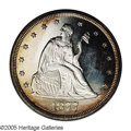 1877 20C PR63 Cameo NGC. The frosty devices contrast beautifully with the glittering mirror fields. The reverse is fully...