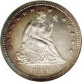 Seated Quarters: , 1861 25C MS64 NGC. The 1861 Seated Liberty quarter, in addition toits popularity as a Civil War issue, is one of the few N...