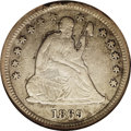 Seated Quarters: , 1869-S 25C VF30 NGC. Briggs-1-Die State-A. Dappled gold andpearl-gray color enriches this moderately circulated better dat...