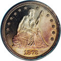 Proof Seated Quarters: , 1872 25C PR64 Cameo NGC. The sharp frosty design elements contrastbeautifully with the blazing mirror fields. The surfaces...