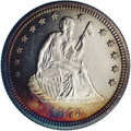 Proof Seated Quarters: , 1873 25C Closed 3, No Arrows PR63 NGC. Here's yet another lovelyproof that shows pleasing contrast between the sharp frost...