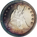 Proof Seated Quarters: , 1875 25C PR65 Cameo NGC. Type II Reverse. An interesting researchpiece from the new hub with TATE clearly separated. This ...