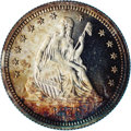 Proof Seated Quarters: , 1879 25C PR65 Cameo NGC. Breen-4105, Briggs 2-B. Type II Reverse.Official Mint Records state that only 250 Proofs were coi...