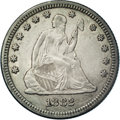 Seated Quarters: , 1882 25C AU58 NGC. A charming silver-gray example of this scarceissue. Lightly marked and crisply struck. The 1882 has the...