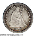 Seated Quarters: , 1891-O 25C VF35 NGC. Briggs 1-A. After a gap of 32 years, caused bythe Civil War and a mint preference toward Silver Dolla...