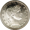 Proof Barber Quarters: , 1906 25C PR66 NGC. A technically outstanding proof Barber quarter that displays razor-sharp impressions on the design featu...