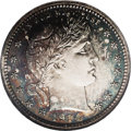 Proof Barber Quarters: , 1914 25C PR64 NGC. The proof mintage for the 1914 Quarter of 380 pieces is the lowest recorded for any date within the seri...