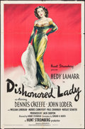 "Movie Posters:Drama, Dishonored Lady (United Artists, 1947). One Sheet (27"" X 41"").Drama.. ..."