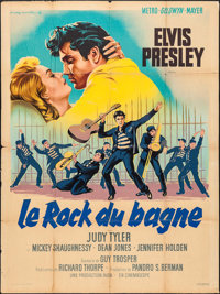 "Jailhouse Rock (MGM, 1957). French Grande (47"" X 62.5""). Elvis Presley"
