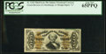 Fractional Currency:Third Issue, Fr. 1334 50¢ Third Issue Spinner PCGS Gem New 65PPQ.. ...
