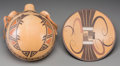 American Indian Art:Pottery, Two Hopi Polychrome Pottery Items. Jean Sahmie and Jacob Koopee .c. 1980 and 2000... (Total: 2 Items)