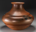 American Indian Art:Pottery, A Large Nambe Orange Micaceous Jar. Lonnie Vigil (b. 1949). c.2000...
