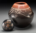 American Indian Art:Pottery, Two Southwest Blackware Items. Barbara Gonzales and Sammy andAdrianna Naranjo . c. 1975 and 1995... (Total: 2 Items)