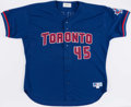 Baseball Collectibles:Uniforms, 1999 Cecil Fielder Game Issued Toronto Blue Jays Jersey. ...