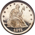 Proof Twenty Cent Pieces, 1875 20C PR63 Cameo PCGS. BF-2....