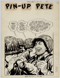 Original Comic Art:Splash Pages, Jack Sparling and Bob Powell (attributed) Monty Hall of the U.S.Marines #6 Pin-Up Pete Page 1 Original Art (Toby,...