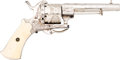 Handguns:Double Action Revolver, Engraved Belgian Double Action Pinfire Revolver....
