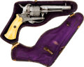 Handguns:Double Action Revolver, Cased French Double Action Pinfire Revolver....