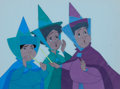 Animation Art:Production Cel, Sleeping Beauty Three Fairy Godmothers Production Cel (WaltDisney, 1959)....