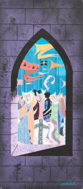 Animation Art:Concept Art, Eyvind Earle Sleeping Beauty Castle and Parade ConceptPainting (Walt Disney, 1959)....
