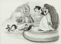 Animation Art:Production Drawing, Snow White Book Illustration (Walt Disney, c. 1940)....