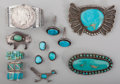 American Indian Art:Jewelry and Silverwork, Ten Southwest Jewelry Items... (Total: 13 Items)