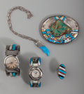American Indian Art:Jewelry and Silverwork, Five Southwest Jewelry Items... (Total: 5 Items)
