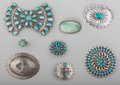American Indian Art:Jewelry and Silverwork, Eight Southwest Jewelry Items ... (Total: 8 )