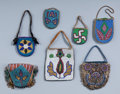 American Indian Art:Beadwork and Quillwork, Seven Plateau Beaded Hide Pouches. c. 1900 - 1910... (Total: 7Items)