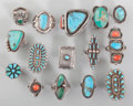 American Indian Art:Jewelry and Silverwork, Fifteen Southwest Rings... (Total: 15 Items)
