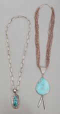 American Indian Art:Jewelry and Silverwork, Two Southwest Necklaces . Richard Begay. c. 1990... (Total: 2Items)