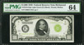 Small Size:Federal Reserve Notes, Fr. 2210-E $1,000 1928 Light Green Seal Federal Reserve Note. PMG Choice Uncirculated 64.. ...