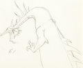 Animation Art:Production Drawing, Sleeping Beauty Dragon Animation Drawing (Walt Disney,1959)....