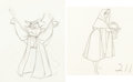 Animation Art:Production Drawing, Sleeping Beauty Briar Rose and Owl Animation Drawings Set of2 (Walt Disney, 1959).... (Total: 2 Original Art)